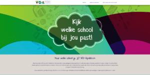 website vo-apeldoorn.nl helpt leerlingen bij middelbare schoolkeuze.